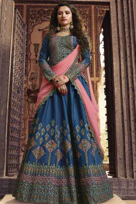 Designer Lehenga Blue Color