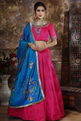 Designer Lehenga Choli Pink Color Mastani Silk