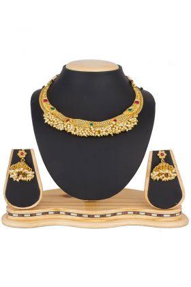 Designer Mix Metal Necklace Set