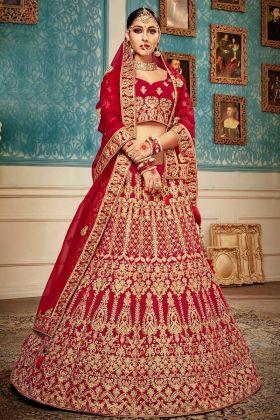 Designer Red Bridal Lehenga Choli