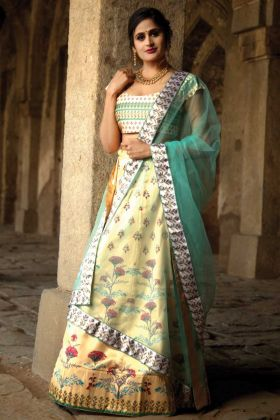 Digital Printed Designer Lehenga Choli