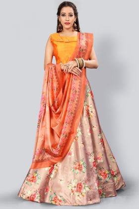 Digital Printed Multi Color Designer Lehenga Choli