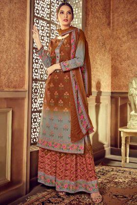 Discharge Digital Printed Work Multi Color Pure Cotton Pakistani Dress