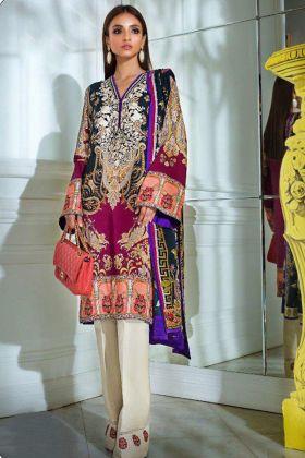 Embroidery Work Multi Color Heavy Cotton Pakistani Salwar Kameez