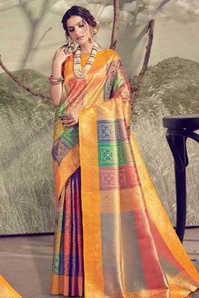 Ethnic Party Wear Designer Banarasi Weaving Saree