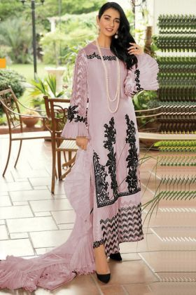 Exclusive Pink Color Butterfly Net Unique Designer Pakistani Salwar Suit With Heavy Work