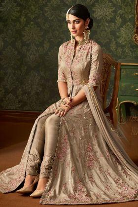 Exclusive Beige Color Wedding Salwar Suit