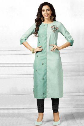 Exclusive Designer Green Kurti Online
