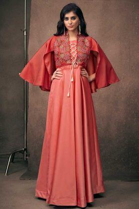 Exclusive Designer Red Anarkali Gown