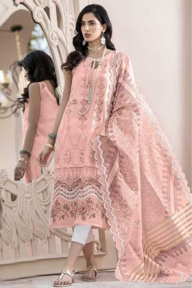 Execellent Party Wear Peach Color Salwar Suit