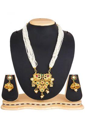 Fancy Golden Mix Metal Necklace Set