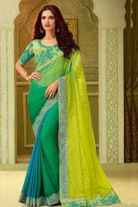 Fancy Luxury Silk Multi Color Saree
