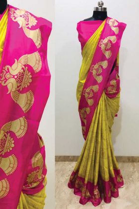 Fantastic Printed Soft Malgudi Silk Multi Color Saree