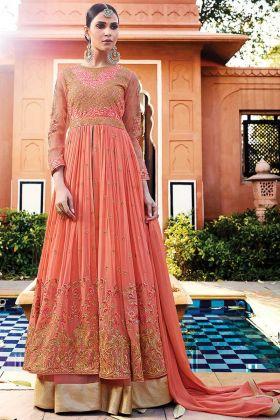 Fashionable Royal Georgette Wedding Anarkali Salwar Suit
