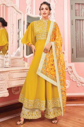 Festival Wear Yellow Color Anarakali Salwar Suit