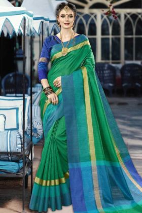 Festival Special Collection Green Saree