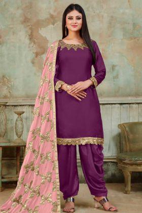 Festival Special Purple Punjabi Dresses