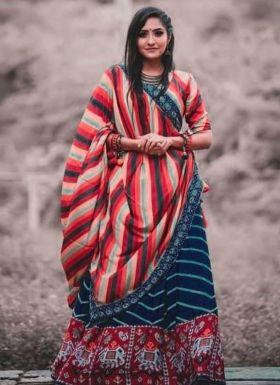 Festive Wear Multi Color Lehenga Choli