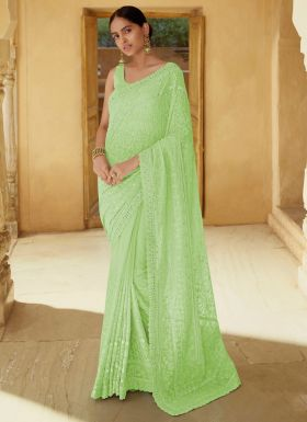 Freshly Added Pale Green Saree