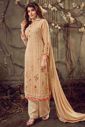 Georgette Designer Trendy Palazzo Salwar Suits