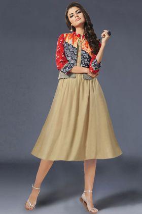 Glamour Jacket Style Designer Kurtis