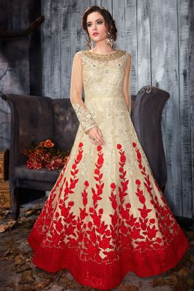 Gold and Red Gown Style Suit