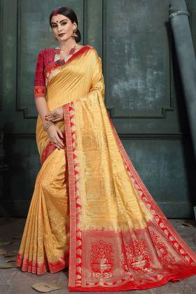Golden Art Silk Traditional Saree