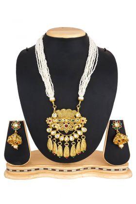 Golden Mix Metal Necklace Set