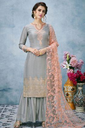Grey Designer Salwar Kameez