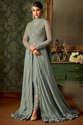 Grey Fancy Wedding Salwar Suit
