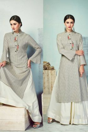 Grey Latest Designer Kurti Collection