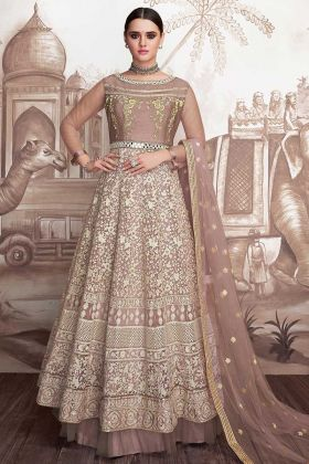Heavy Faux Georgette And Butterfly Net Frock Suit Design