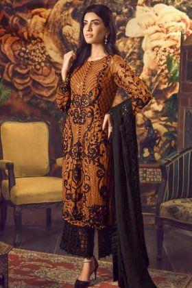 Heavy Faux Georgette Mustard Palazzo Salwar Suit