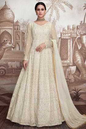 Heavy Foux Georgette And Heavy Butterfly Net Long Frock Anarkali Suit