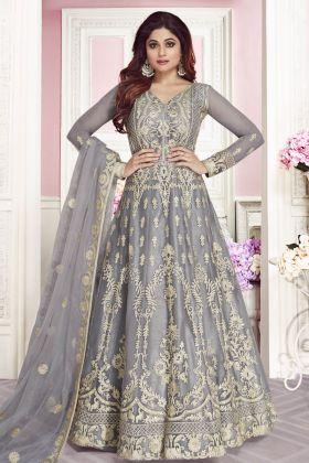 Heavy Designer Butterfly Net Aanarkali Suit