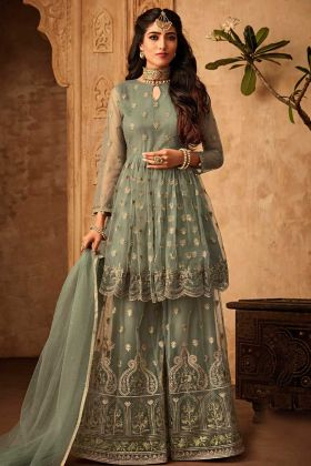 Heavy Designer Net Sharara Suit