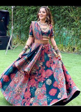 Isha Multani Multi Color Printed Lehenga Choli