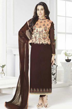Jacket Style Salwar Kameez For Evening Parties