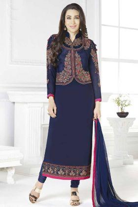 Karishma Kapoor Jacket Style Churidar Suit