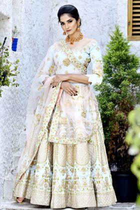 Latest Baby Blue Bridal Lehenga Choli