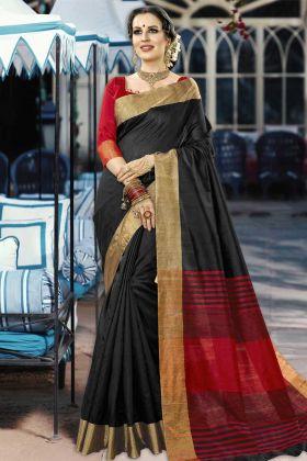 Latest Collection Black Designer Festival Saree