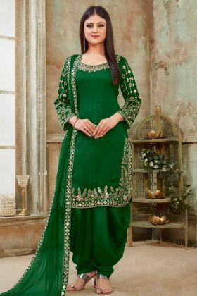 Latest Collection Green Designer Patiala Suit