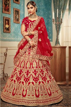 Latest Designer Red Bridal Lehenga Choli