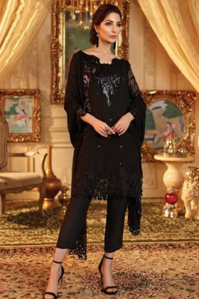 Latest Eid Dresses Collection Black Lawn Fabric