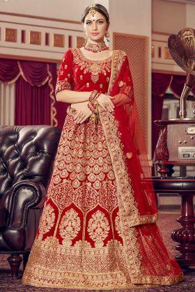 Latest Velvet Wedding Lehenga Designs For Brides