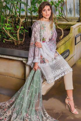 Lawn Multicolor Pakistani Salwar Kameez In Digital Print