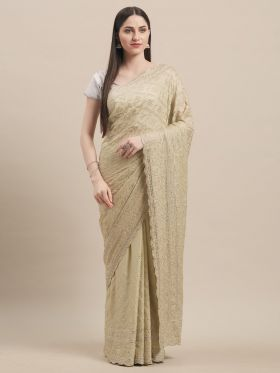 Light Pastel Green color Indian Wedding Saree