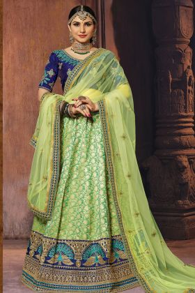 Light Green Banarasi Art Silk Lehenga Choli