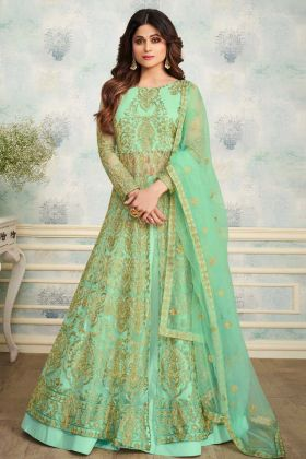 Light Green Indo Western Salwar Suit