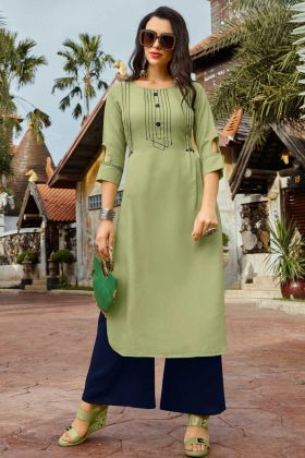 Light Green Stylish Designer Kurti